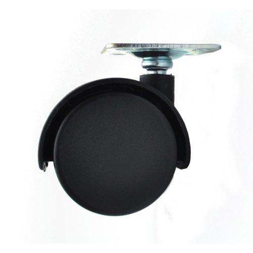 NEW 40mm Plastic Swivel Castor Wheel Black Furniture Caster without brake