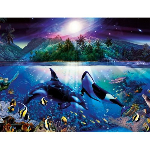 jigsaw puzzle 2000 pieces graceful killer whales on onbuy