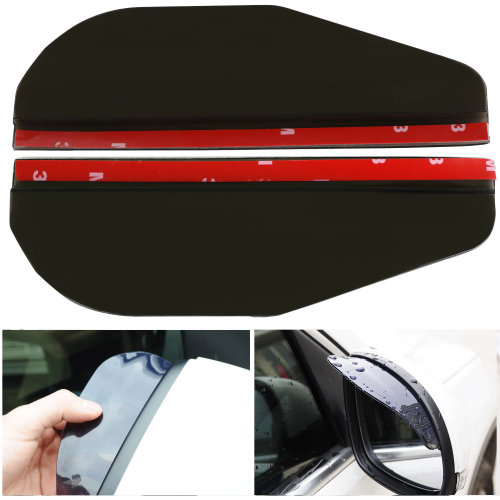 TRIXES Self Adhesive External Car Side Mirror Weather Snow Rain Shielding Guard