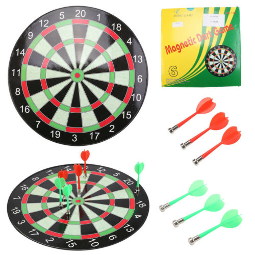 "15"" Magnetic Kids Toy Play Dart Board Dartboard with 6 Darts"