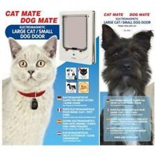 Electromagnetic Pet Flap Large Cat/small Dog White