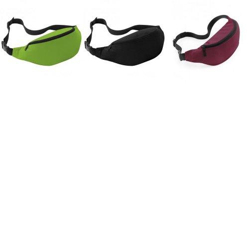 Bagbase Adjustable Belt Bag (2.5 Litres) (Pack of 2)