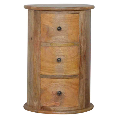 3 Drawer Slim Drum Chest
