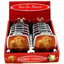 Marilyn Red Face Mirror Compact