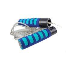 Nonslip Iron Jump Rope Weight Skip Rope 2.4 Meters (Blue)