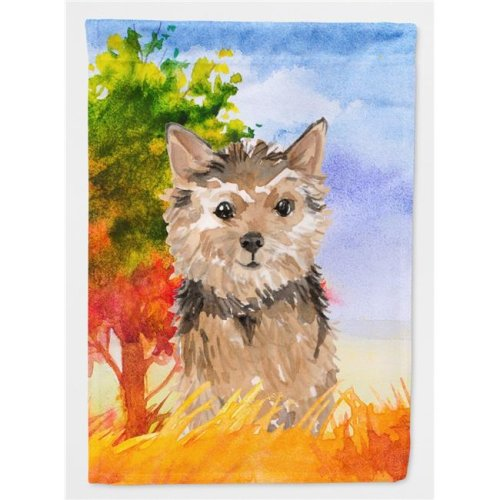 Carolines Treasures CK1936CHF Fall Norwich Terrier Flag Canvas House Size