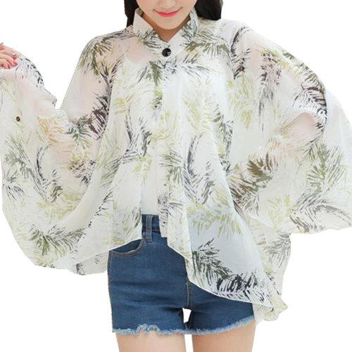 Sun Protective Clothing - Summer Chiffon Shawl Beach Coats Jackets-A7