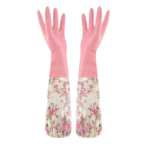More Durable Clean Rubber Gloves To Wash Dishes Waterproof Gloves Pink