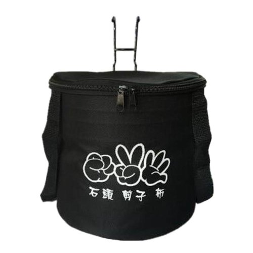 [A] Waterproof Canvas Bicycle Basket Foldable Lidded Basket for Bike