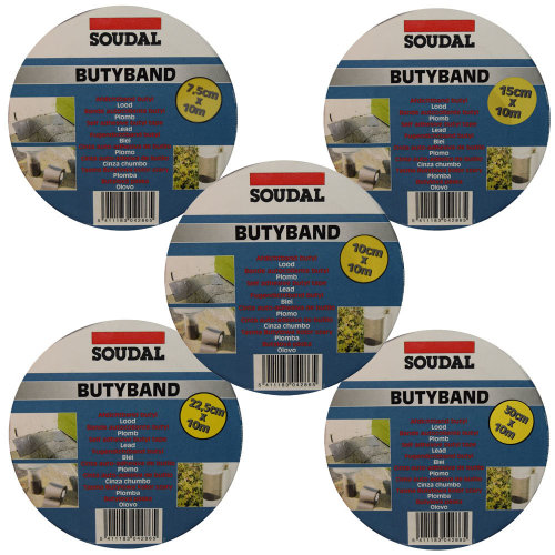 Soudal Butyband Flashing Tape - 10m Self Adhesive Flashband - Roof Leak Repair
