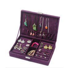 Jewelry Box Necklace Organizer Rings Display Earrings Storage Case-C01