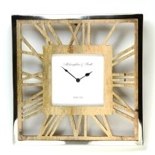 Square Ghost Wooden Wall Clock