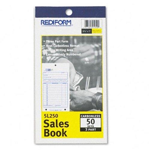Rediform 5L250 Sales Form  3-5/8 x 6 3/8  Carbonless Triplicate  50 Sets/Book