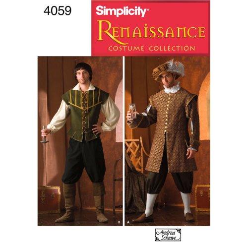 SIMPLICITY MENS COSTUMES-XS,S,M,L,XL