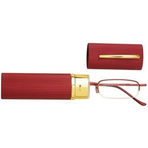Sunoptic OR10C Red Reading Glasses - Strength +1.00 Incl. Case