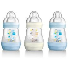 Mam Anti-colic 160ml Bottle - 3pk Boy