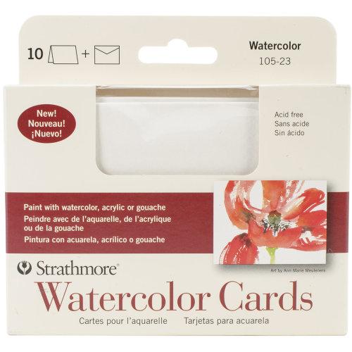 "Strathmore Cards & Envelopes 3.5""X4.875"" 10/Pkg-Watercolor"