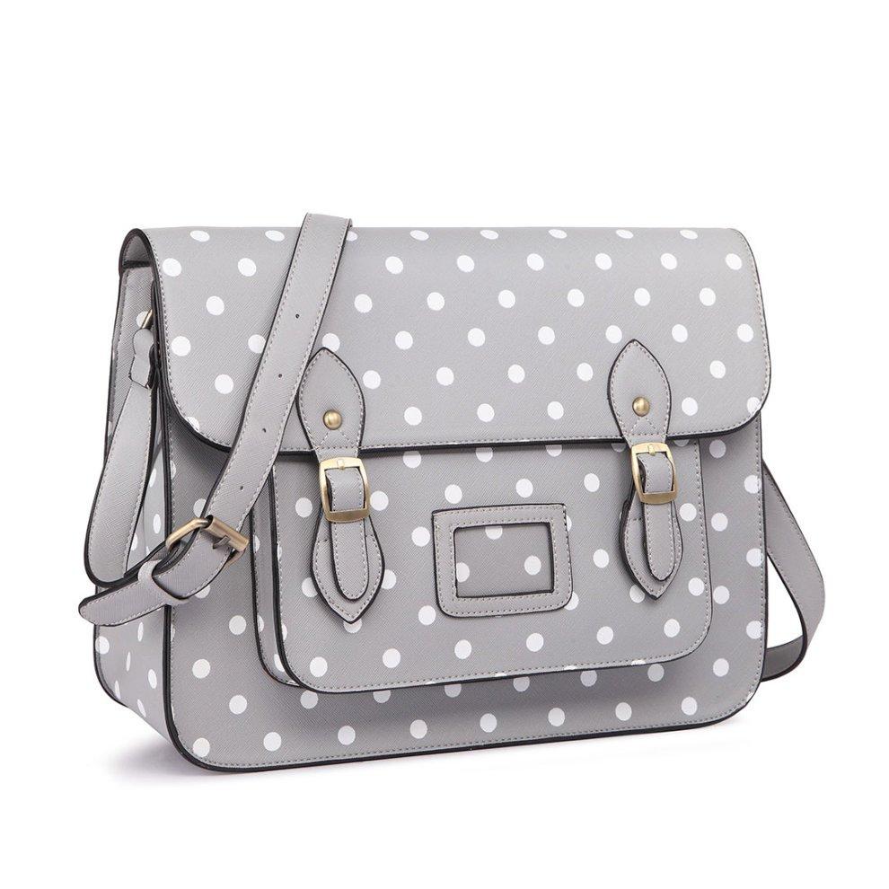 ... 1 Miss Lulu School Bag Cross Body Messenger Shoulder Satchel Polka Dots  - 2 ... 5394e6eb4f5b5