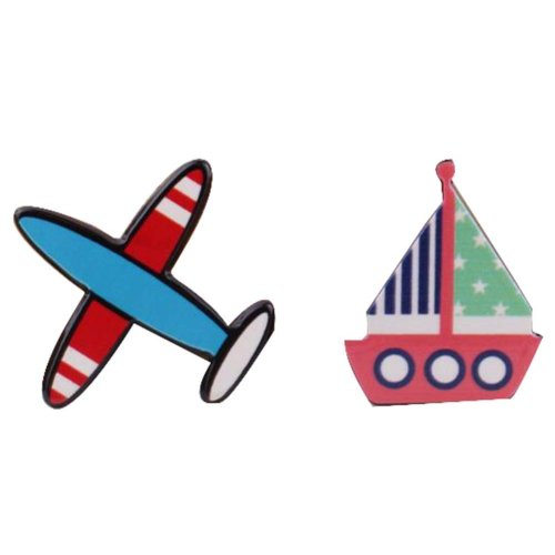 4 Pcs Creative Pushpin Push Pin Thumbtack Office Supplies, Plane and ship