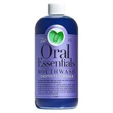 Oral Essentials Sensitive Teeth Mouthwash 16 Fl Oz. NonToxic, Clinically Proven & Dentist Formulated
