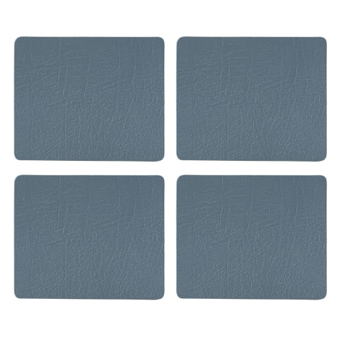 English Tableware Co. Bonded Leather Coasters, Blue