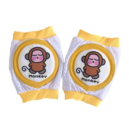 Unisex Infant Toddler Knee Elbow Pads One Pair Monkey Crawling Protector