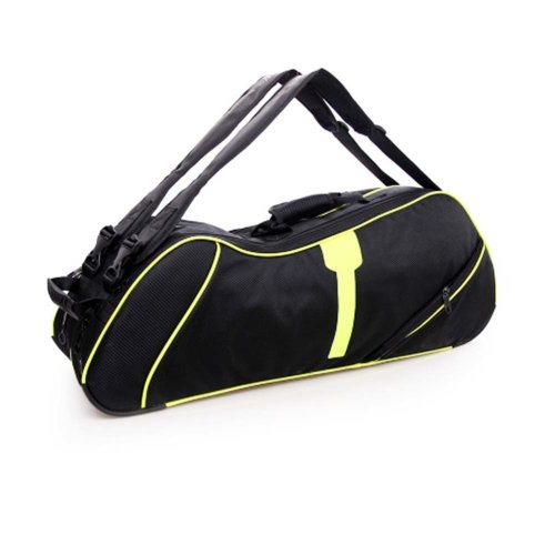 2 Shoulder Straps Waterproof And Dustproof Racket Bag 6 Racquet Bag,Yellow