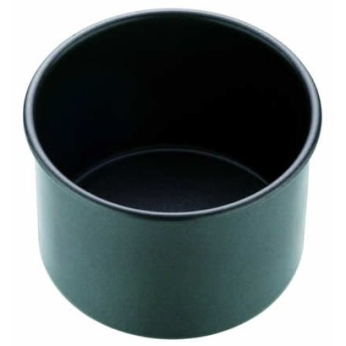 10cm Master Class Non-stick Loose Base Deep Individual Cake Pan - Round Pie -  deep cake master class round pie nonstick mould loose tinpork base 4