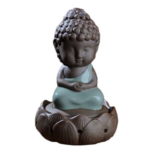 Zazen Lotus Flower Incense Burner Incense Holder for Meditation Home Decor