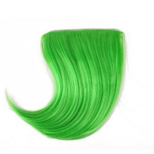 Colorful Wigs for Cosplay,Stage/Party Wig/Hair Bangs Wigs, Green