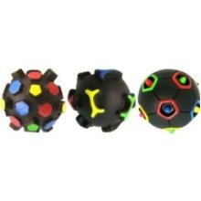 12cm 3d Squeaky Puzzle Ball Dog Toy