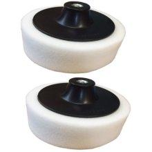 Firm Polishing Head - M14 White Thread Sponge Buffing Pack 150mm 6 Pad -  firm polishing m14 white thread head sponge buffing pack 150mm 6 pad