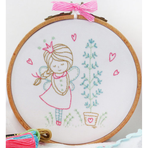 "Charles Craft/Tamar Embroidery Kit 8""X8""-Shy Fairy"