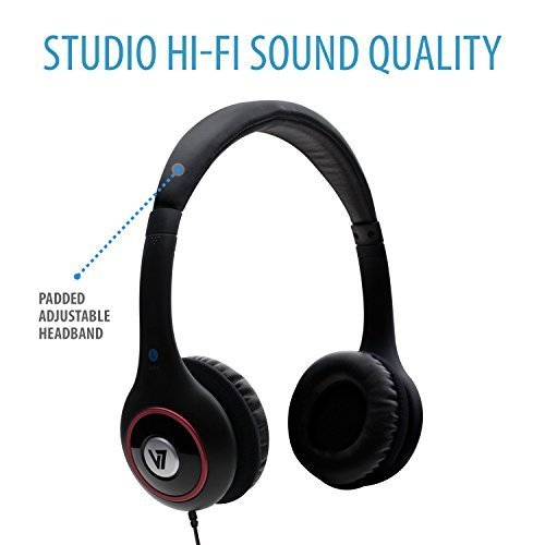 V7 HA510 2NP Deluxe Stereo Headphones with Volume Control