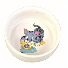 Trixie Ceramic Bowl With Cat Motif, 0.3 Litre, White - Food Water 4009 New Dish -  bowl cat ceramic food water 4009 new trixie dish