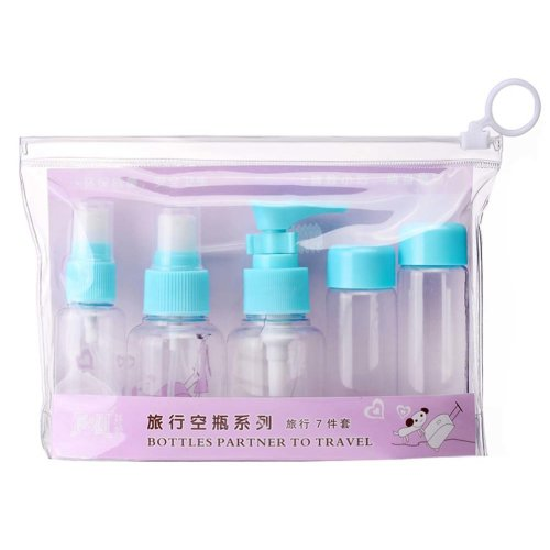 Plastic Empty Bottles Travel Bottles Cosmetic Bottles/7-Piece