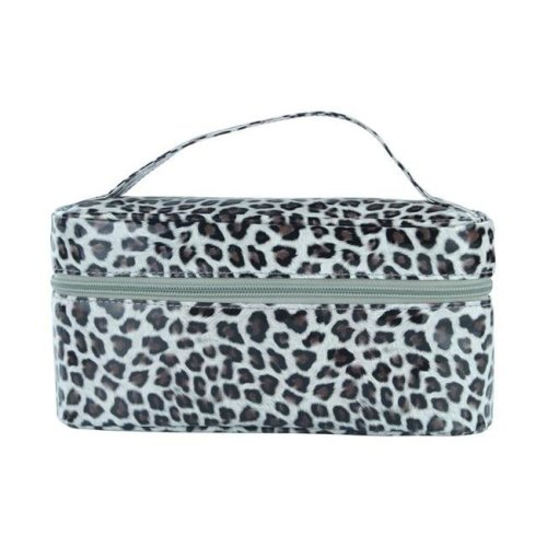 Picnic Gift 7524-CT Lemondrop-Chic & Classy Insulated Cosmetics Bag For The Minimalist Cosmoqueens, Cheetah