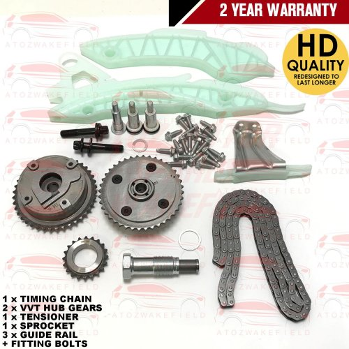 FOR BMW F20 F21 F30 F80 F31 N13B16A 1.6 ENGINE TIMING CHAIN KIT + VVT HUB GEARS