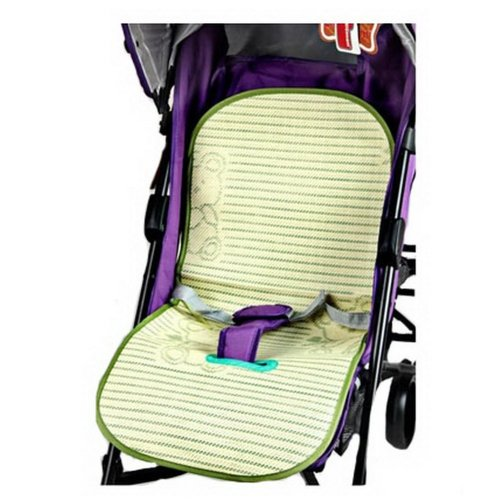 Summer Carts Mats Stroller Flax Mats Liner Green-Single Hole