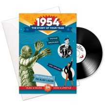 64th Anniversary or Birthday gifts ~ Booklet , Music & Card; 1954 in one present