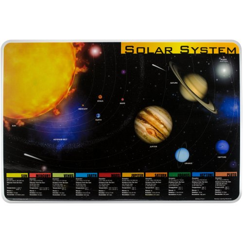 """Painless Learning Laminated Placemats 17.5""""X12.25""""-Solar System"""