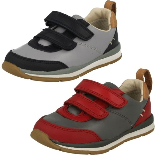 Infant Boys Clarks First Walking Shoes Ferris Cap - F Fit