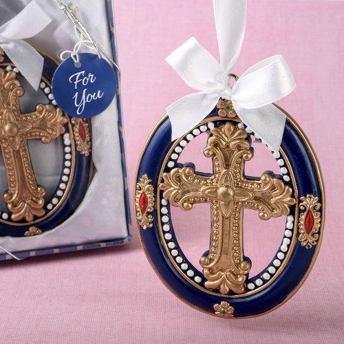 Gold Cross themed Ornament