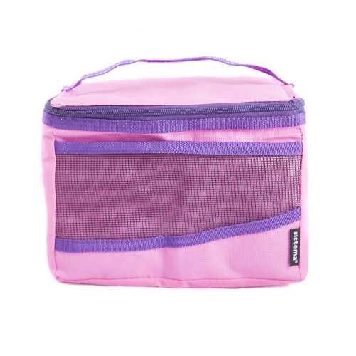 Sistema Maxi Fold Up Insulated Lunch Cooler Bag, Pink