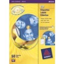 Avery J8676-100 200pc(s) CD/DVD Self-adhesive label storage media...