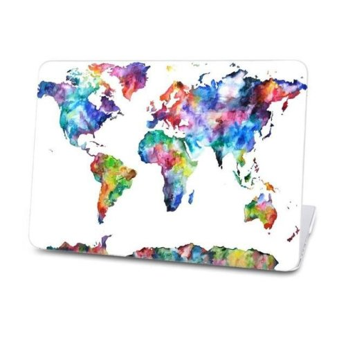 Macbook Case - Watercolor World Map-for-mac-air-11