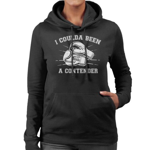 On The Waterfront Inspired Contender Quote Women's Hooded Sweatshirt