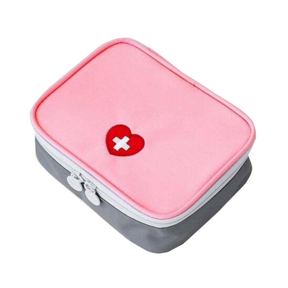 Pink Empty First Aid Bag Medicine Organizer/Pouch