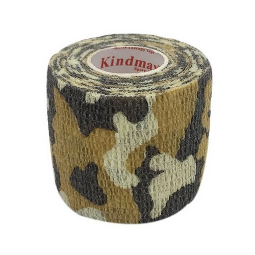 3 Rolls 2 Inches X 5 Yards Elastic Self Adhesive Bandages For Sports, Brown Camo
