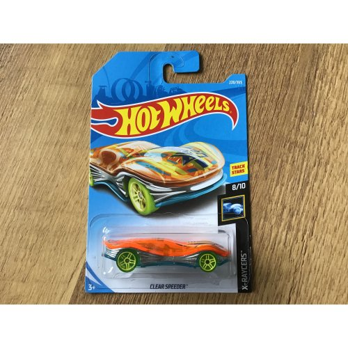 Hot Wheels 2018 X-Raycers Clear Speeder #228